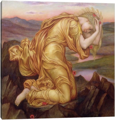 Demeter Mourning For Persephone, 1906 Canvas Art Print