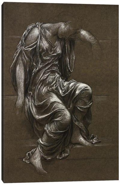 Drapery Study For 'In Memoriam' Canvas Art Print