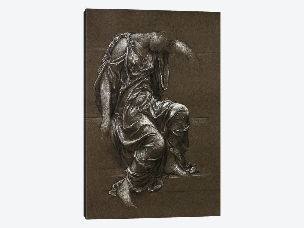 Drapery Study For 'In Memoriam' by Evelyn De Morgan 1-piece Canvas Wall Art