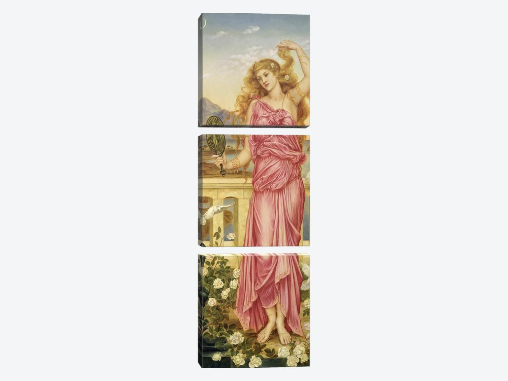 Helen Of Troy, 1898 by Evelyn De Morgan 3-piece Canvas Artwork