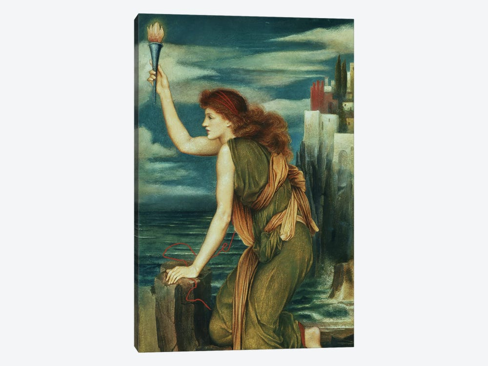 Hero Awaiting The Return Of Leander, 1885 by Evelyn De Morgan 1-piece Art Print
