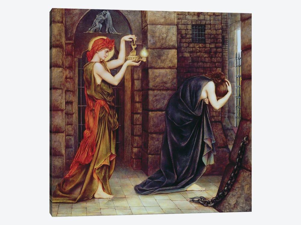 Hope In The Prison Of Despair by Evelyn De Morgan 1-piece Canvas Wall Art