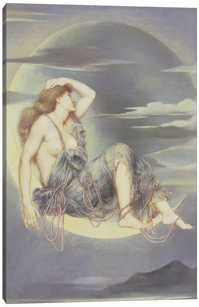 Luna, 1885 Canvas Art Print
