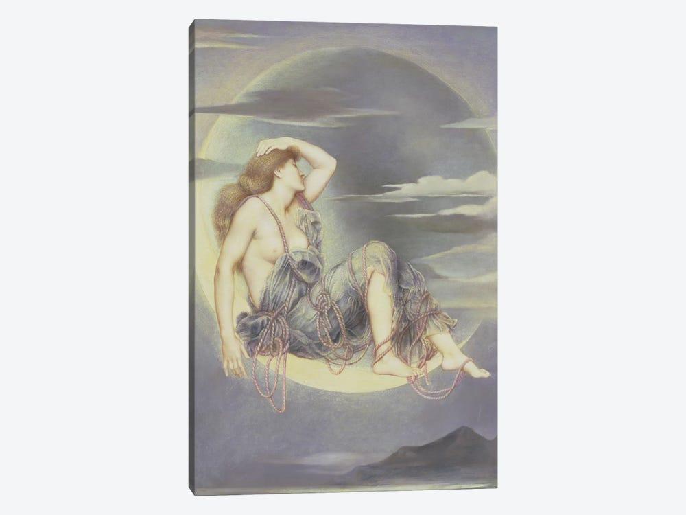 Luna, 1885 by Evelyn De Morgan 1-piece Canvas Art Print