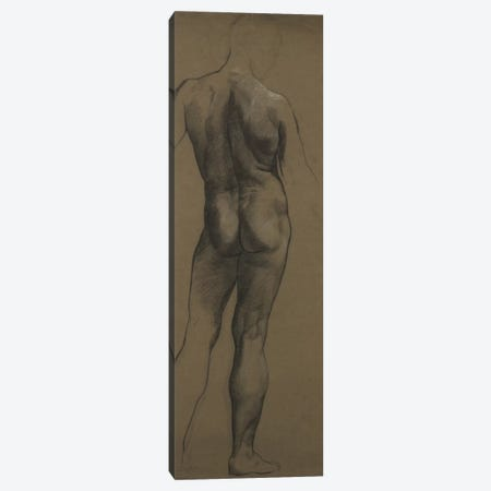 Male Nude Study Canvas Print #BMN7907} by Evelyn De Morgan Canvas Artwork