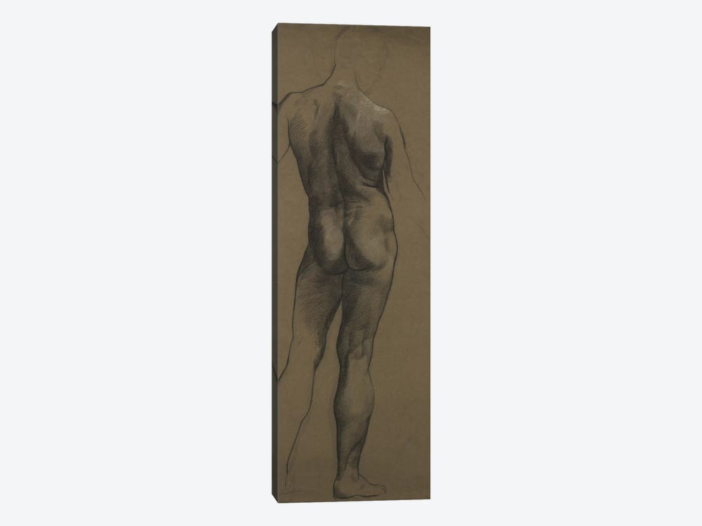 Male Nude Study by Evelyn De Morgan 1-piece Canvas Wall Art