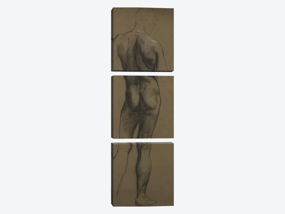 Male Nude Study by Evelyn De Morgan 3-piece Canvas Art