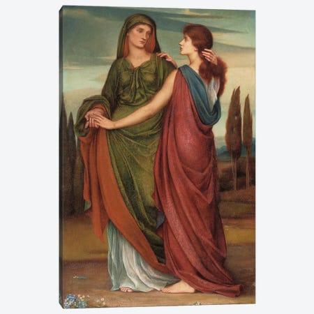 Naomi And Ruth, 1887 Canvas Print #BMN7909} by Evelyn De Morgan Canvas Print