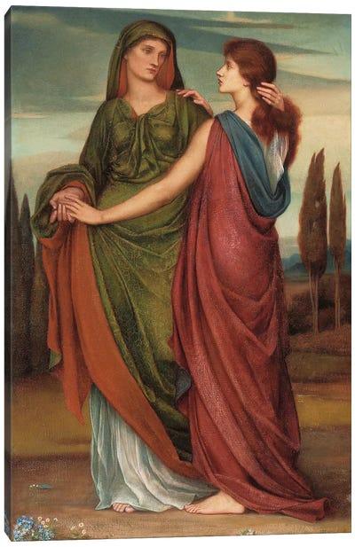Naomi And Ruth, 1887 Canvas Art Print