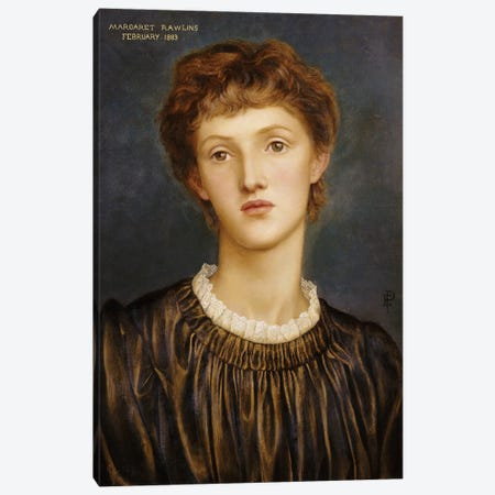 Portrait Of Margaret Rawlins, 1883 3-Piece Canvas #BMN7912} by Evelyn De Morgan Canvas Art