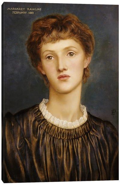 Portrait Of Margaret Rawlins, 1883 Canvas Art Print