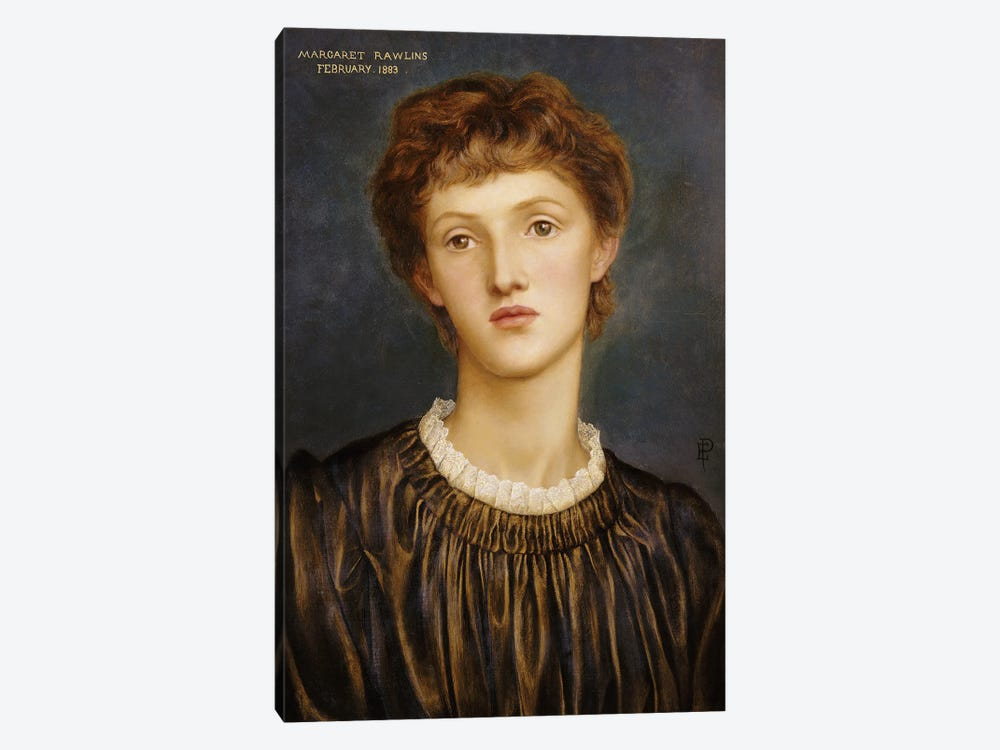 Portrait Of Margaret Rawlins, 1883 by Evelyn De Morgan 1-piece Canvas Artwork
