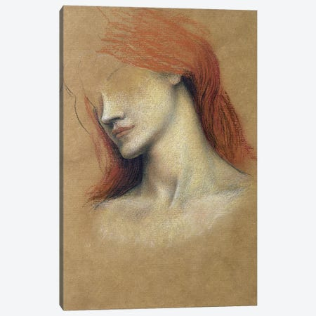 Sketch Of A Woman Canvas Print #BMN7914} by Evelyn De Morgan Canvas Print