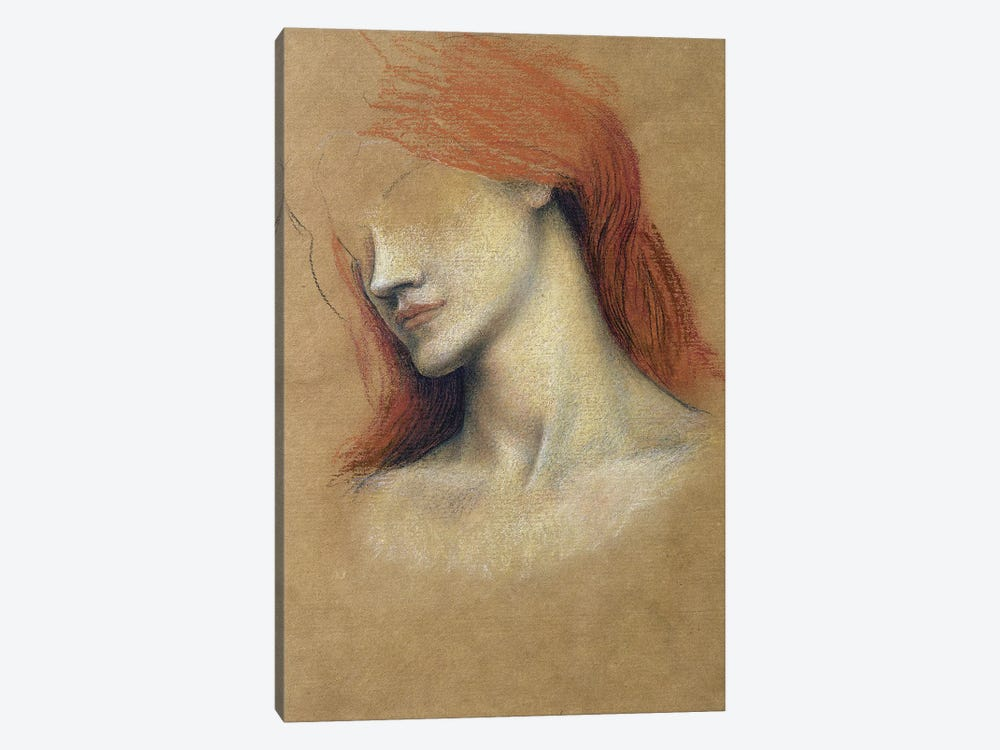Sketch Of A Woman by Evelyn De Morgan 1-piece Canvas Art