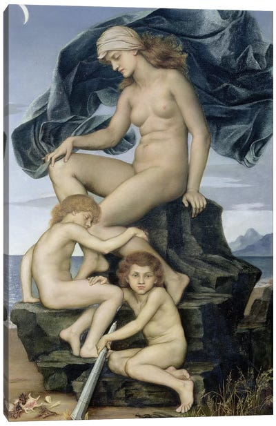 Sleep And Death, The Children Of The Night, 1883 Canvas Art Print