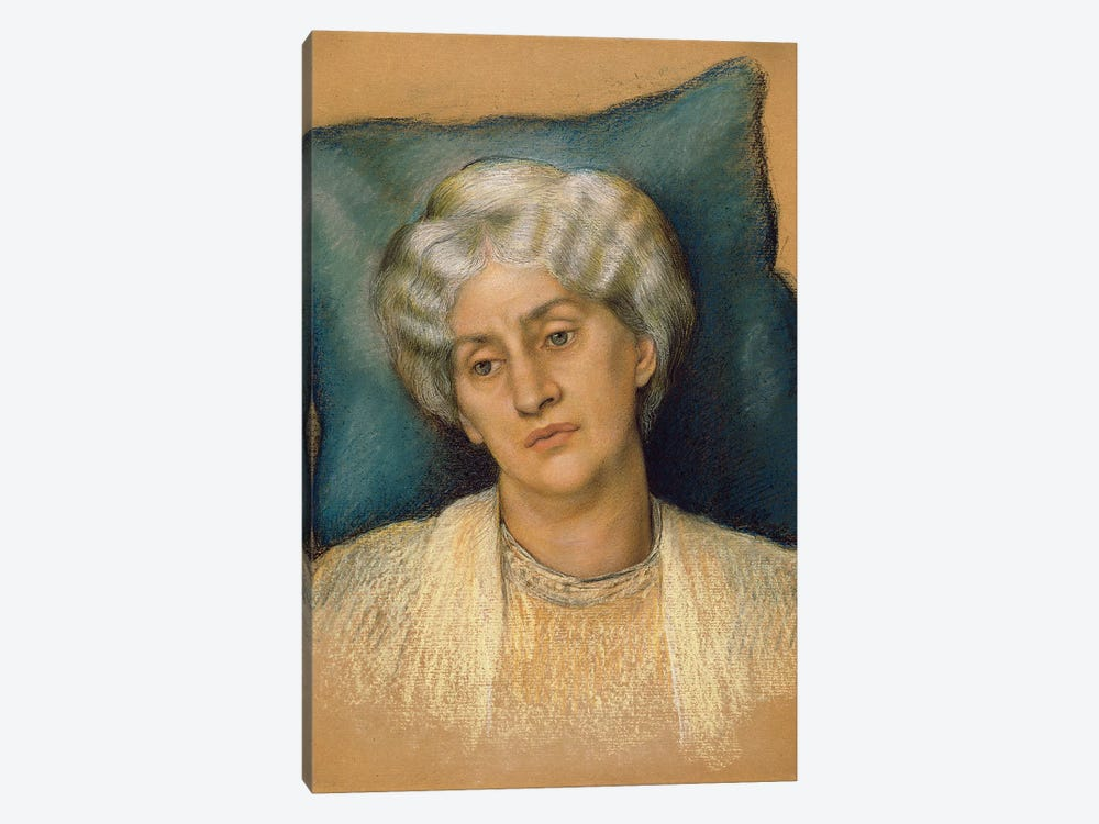 Study For 'the Hour Glass': Portrait Of Mrs. William Morris. c.1904-05 by Evelyn De Morgan 1-piece Canvas Art