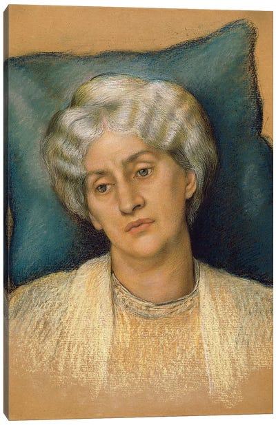 Study For 'the Hour Glass': Portrait Of Mrs. William Morris. c.1904-05 Canvas Art Print