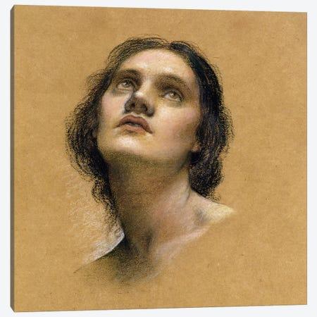 Study Of A Head I 3-Piece Canvas #BMN7917} by Evelyn De Morgan Canvas Print