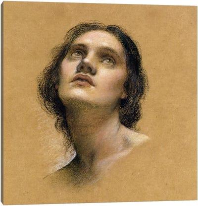 Study Of A Head I Canvas Art Print