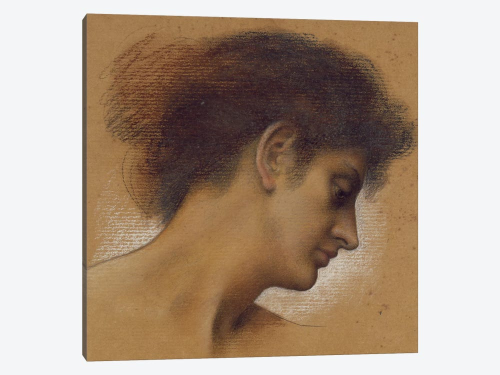 Study Of A Head II by Evelyn De Morgan 1-piece Canvas Wall Art