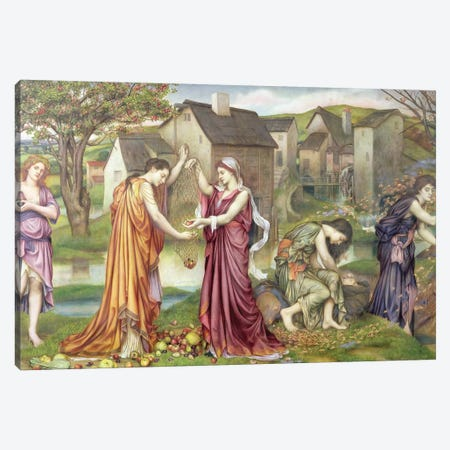 The Cadence Of Autumn, 1905 Canvas Print #BMN7919} by Evelyn De Morgan Canvas Artwork