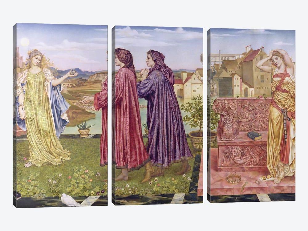 The Garden Of Opportunity, 1892 by Evelyn De Morgan 3-piece Art Print