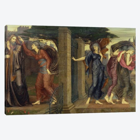 The Grey Sisters, 1880-81 3-Piece Canvas #BMN7921} by Evelyn De Morgan Canvas Print