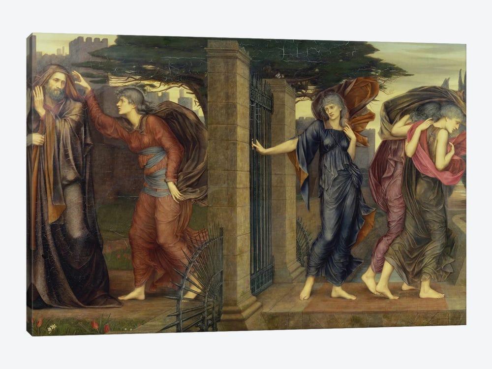 The Grey Sisters, 1880-81 by Evelyn De Morgan 1-piece Canvas Wall Art