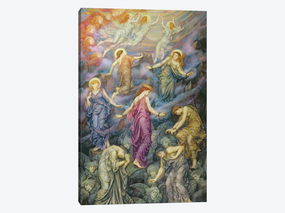 The Kingdom Of Heaven Suffereth Violence by Evelyn De Morgan 1-piece Canvas Print