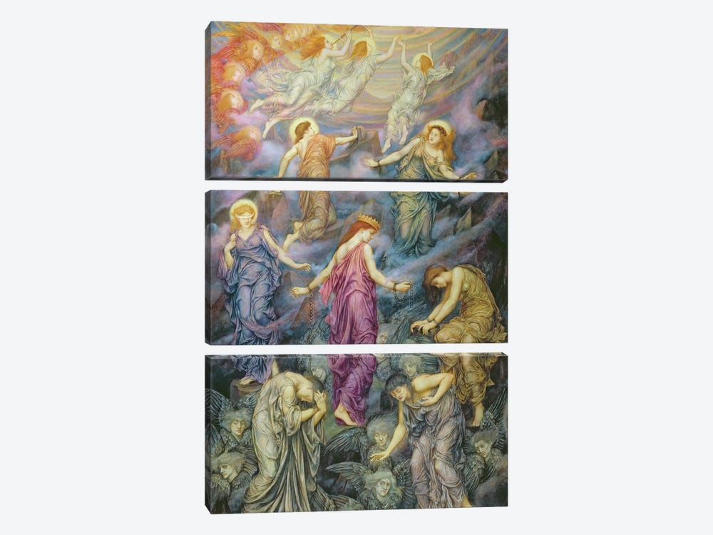 The Kingdom Of Heaven Suffereth Violence by Evelyn De Morgan 3-piece Art Print