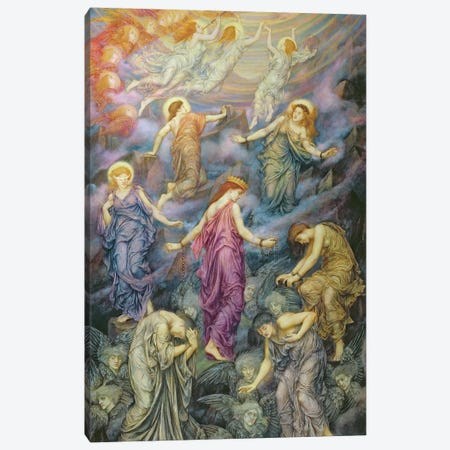 The Kingdom Of Heaven Suffereth Violence Canvas Print #BMN7922} by Evelyn De Morgan Art Print