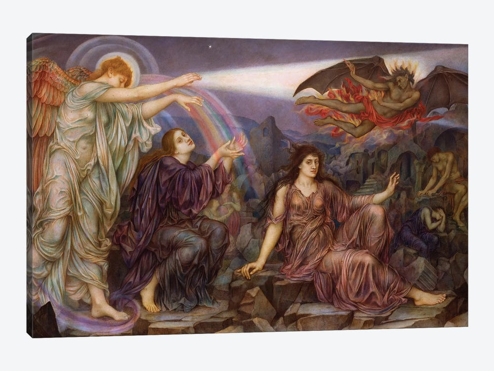 The Searchlight by Evelyn De Morgan 1-piece Canvas Wall Art