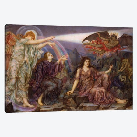 The Searchlight 3-Piece Canvas #BMN7923} by Evelyn De Morgan Art Print