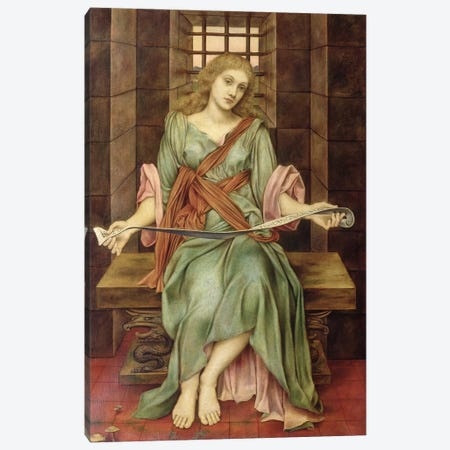 The Soul's Prison House, 1888 Canvas Print #BMN7924} by Evelyn De Morgan Canvas Artwork