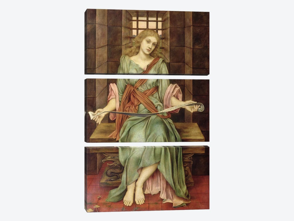 The Soul's Prison House, 1888 by Evelyn De Morgan 3-piece Canvas Art Print