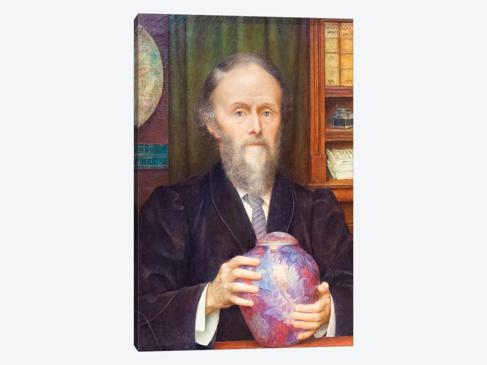 William De Morgan, 1909 by Evelyn De Morgan 1-piece Canvas Wall Art