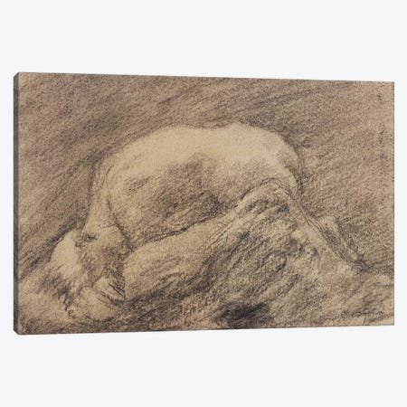 A Study Of Rodin's Danaid In His Studio 3-Piece Canvas #BMN7927} by Gwen John Canvas Art