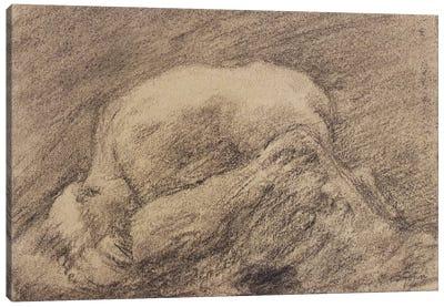 A Study Of Rodin's Danaid In His Studio Canvas Art Print