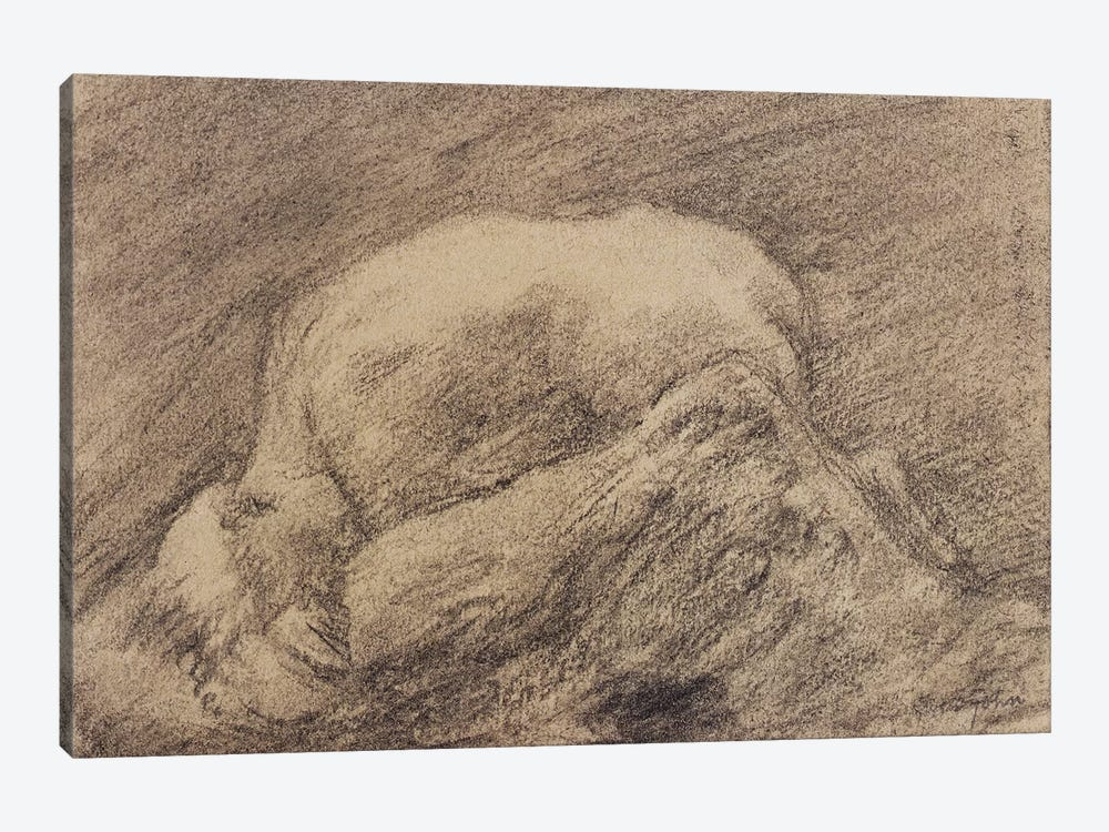 A Study Of Rodin's Danaid In His Studio by Gwen John 1-piece Canvas Art