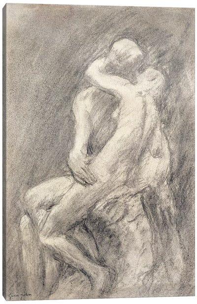 A Study Of Rodin's Kiss In His Studio Canvas Art Print