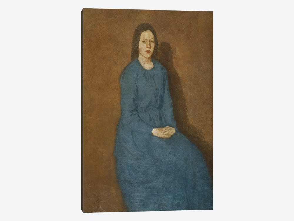 A Young Woman In Blue, c.1914-15 by Gwen John 1-piece Canvas Art