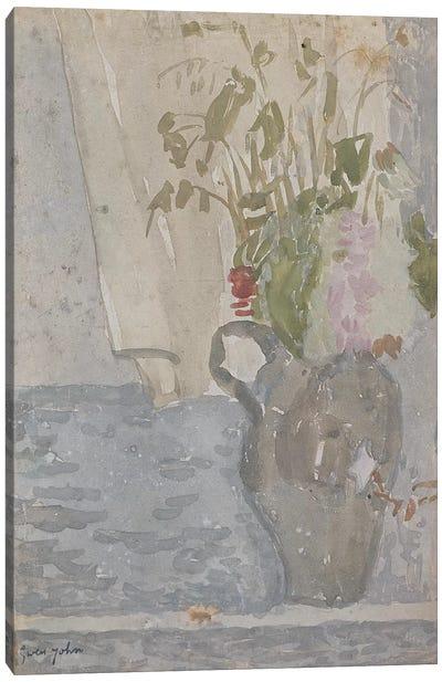 Flowers In A Jug Canvas Art Print
