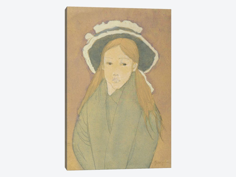 Girl With Large Hat And Straw-Coloured Hair, 1910s by Gwen John 1-piece Canvas Art