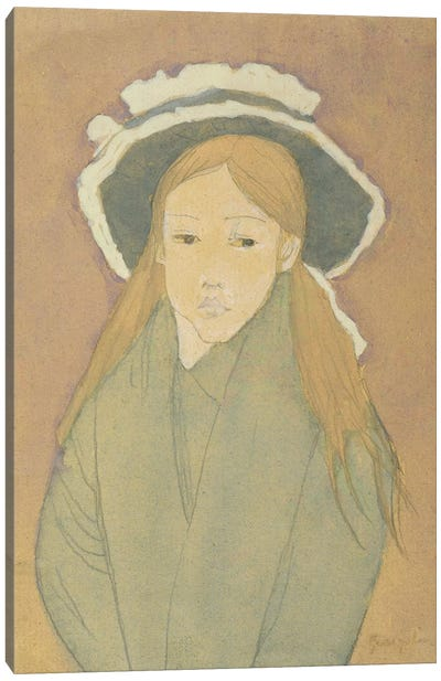 Girl With Large Hat And Straw-Coloured Hair, 1910s Canvas Art Print