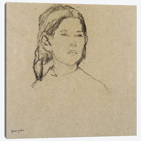 Girl's Head 3-Piece Canvas #BMN7933} by Gwen John Canvas Art