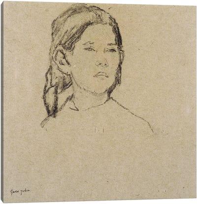 Girl's Head Canvas Art Print