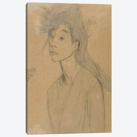 Ophelia: Portrait Imagine, c.1910 Canvas Print #BMN7940} by Gwen John Canvas Art Print