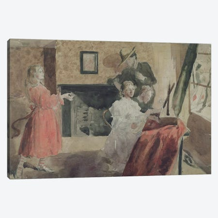 Portrait Group, 1897-98 3-Piece Canvas #BMN7942} by Gwen John Canvas Print