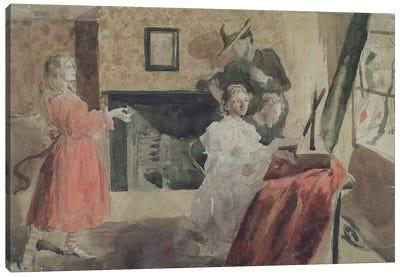 Portrait Group, 1897-98 Canvas Art Print
