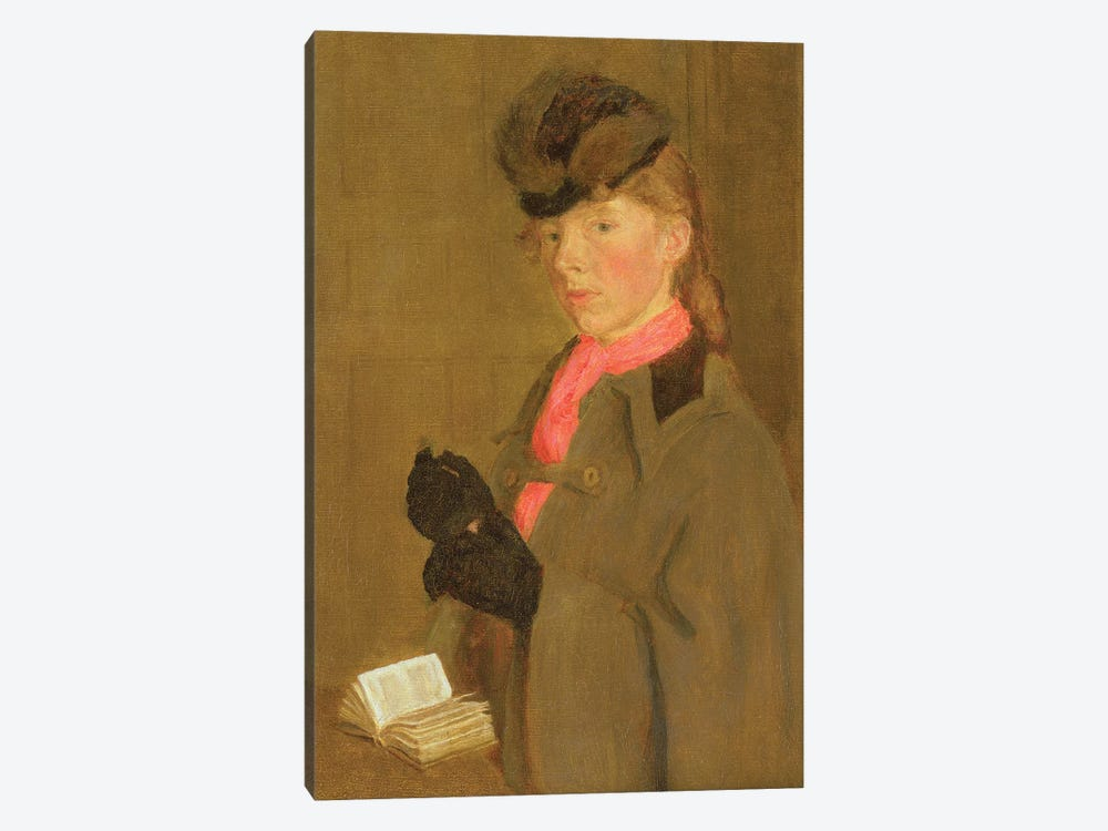 Portrait Of The Artist's Sister, Winifred by Gwen John 1-piece Canvas Artwork